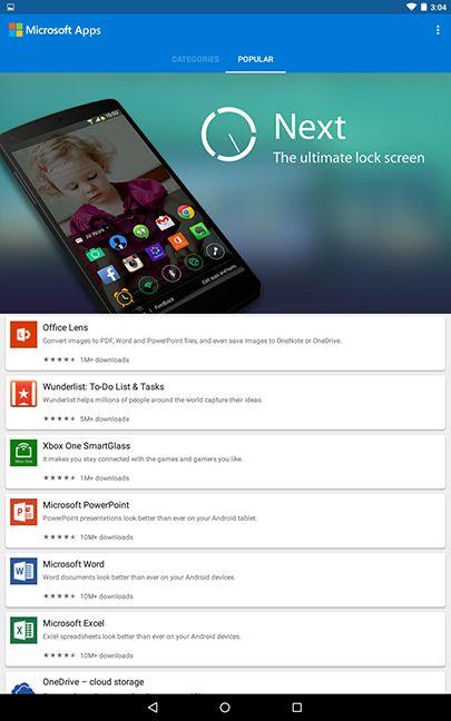 Microsoft Apps, lansare, portal, aplicatii, Android, Google Play