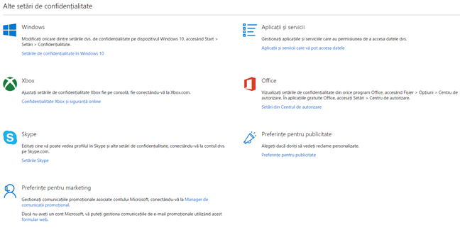 date, Microsoft, personale, confidentialitate