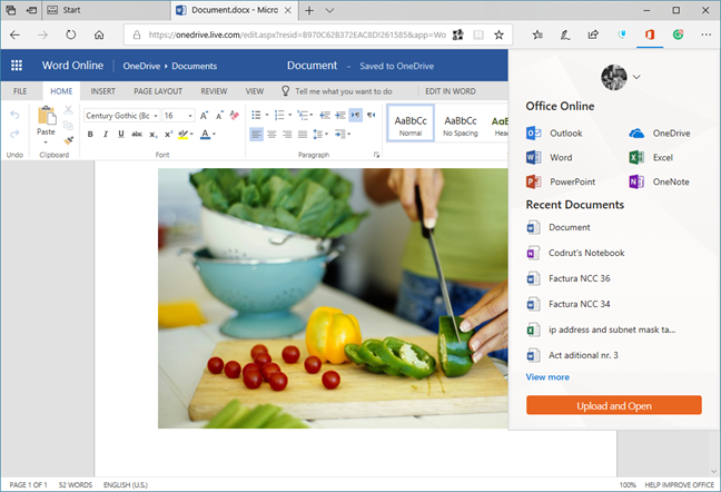 Microsoft Edge, extensii, Windows 10
