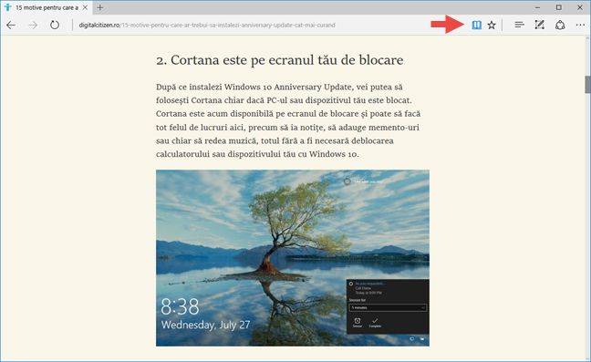 Microsoft Edge, Windows 10, browser, web, navigator, caracteristici