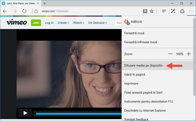 Windows 10, Microsoft, Edge, Miracast, proiecteaza