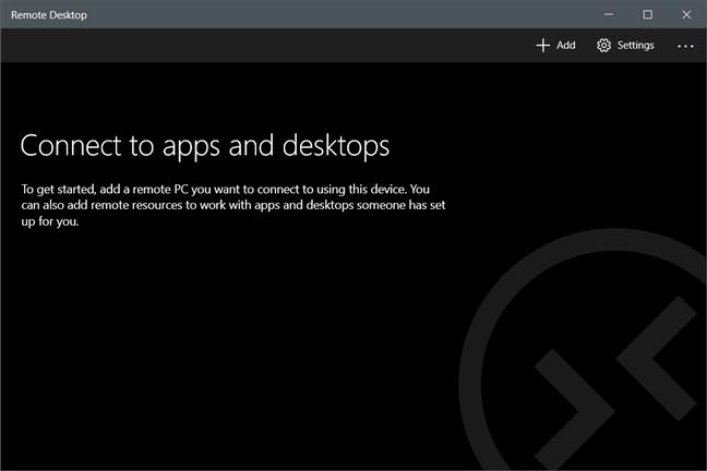 Fereastra Microsoft Remote Desktop