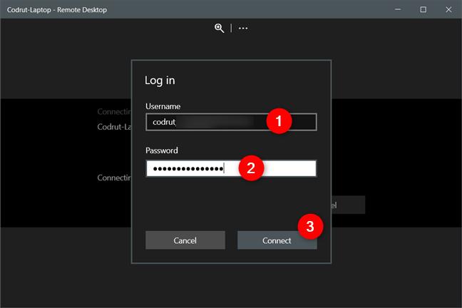 Conectarea la un calculator de la distanță