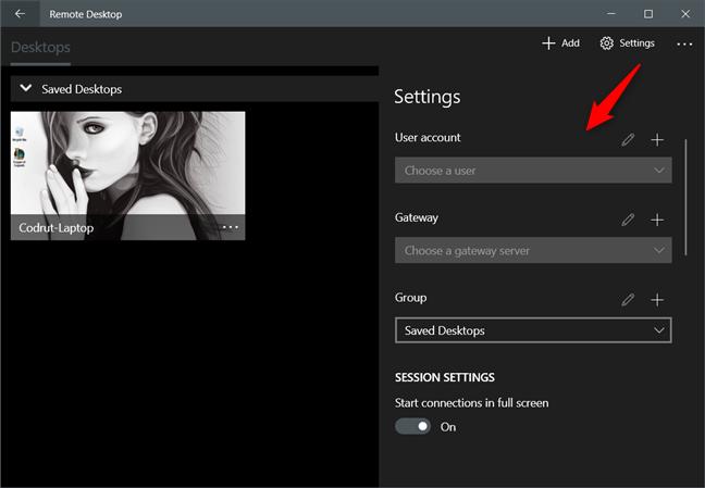 Setări suplimentare pentru conexiunile desktop la distanță