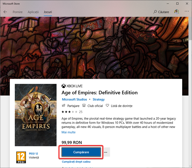 Age of Empires: Definitive Edition în Microsoft Store