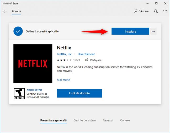 Instalarea unei aplicații din Microsoft Store fără conectarea cu un cont Microsoft