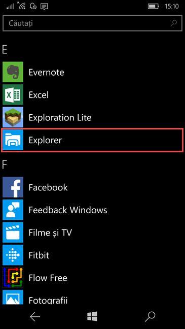 Bluetooth, fisiere, Windows 10 Mobile, primeste, gaseste