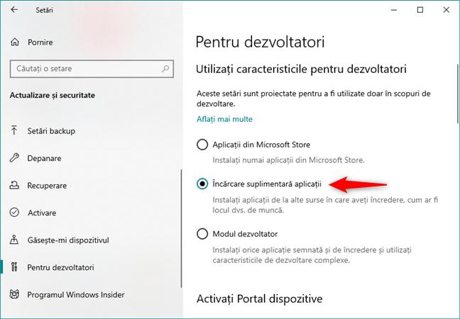 Activarea opțiunii de Încărcare suplimentară aplicații în Windows 10