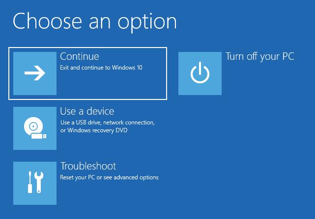 Continuă către Windows 10