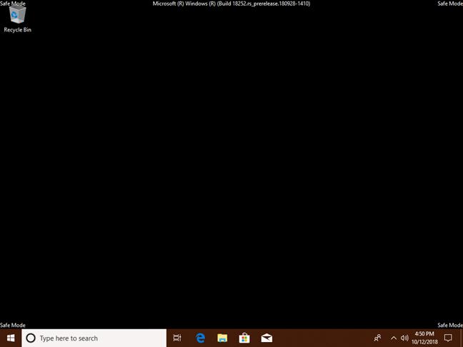 Safe Mode (Mod de siguranță) în Windows 10
