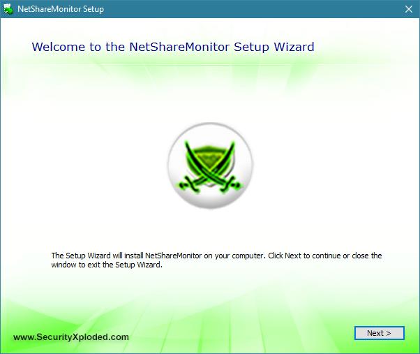 Expertul de instalare al NetShareMonitor