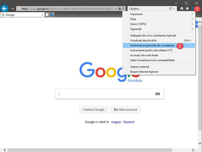 Internet Explorer, motor de cautare