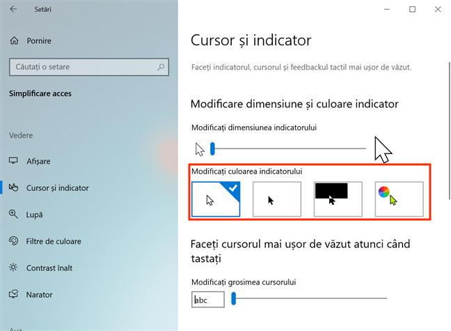 Schimbă culoarea indicatorului tău din Windows 10