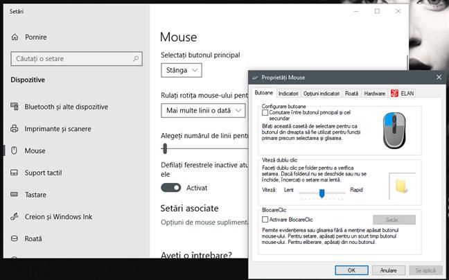 Setările de viteză ale mouse-ului în Windows 10