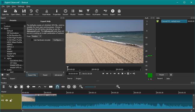 Shotcut: un înlocuitor pentru Windows Movie Maker