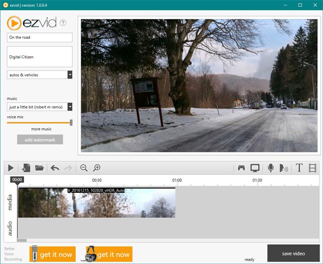 Ezvid: un înlocuitor pentru Windows Movie Maker
