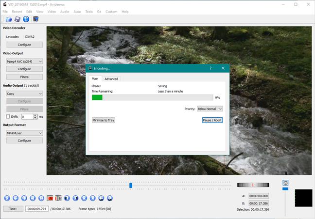 Avidemux: un înlocuitor pentru Windows Movie Maker