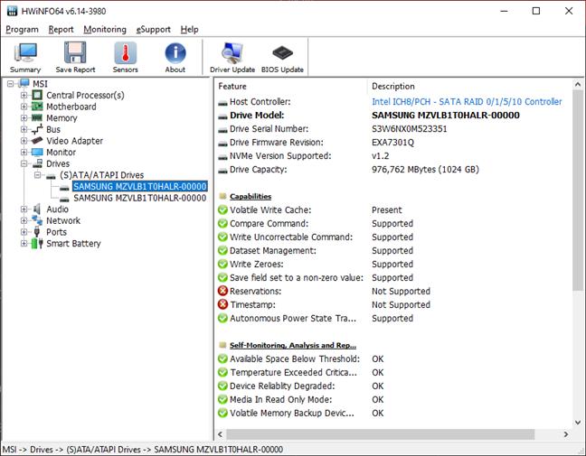MSI GT76 Titan DT 9SG: Detalii despre configurația RAID cu două SSD-uri