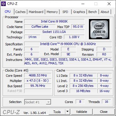 MSI GT76 Titan DT 9SG: Detalii despre procesor