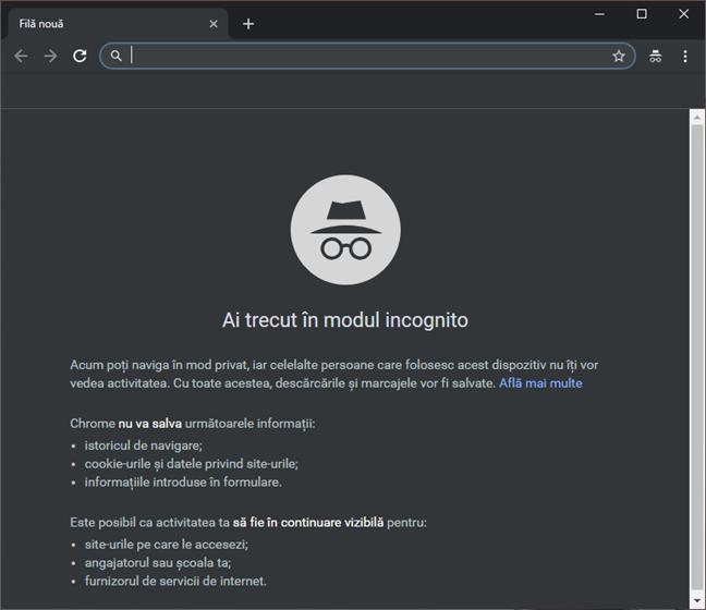 Google Chrome nu permite redeschiderea filelor închise în modul Incognito