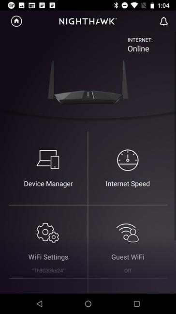 Aplicația mobilă Nighthawk
