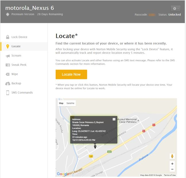 Norton Security and Antivirus, Android, Norton Mobile Security
