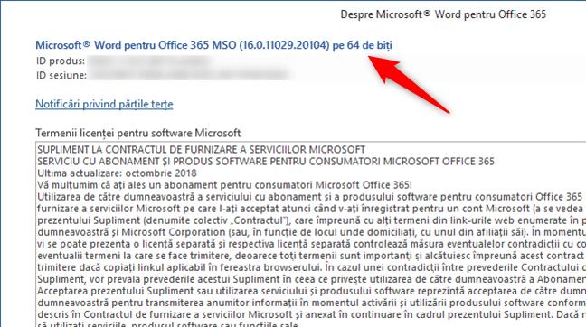 Cum vezi dacă ai versiunea de Office 365 pe 64 de biți