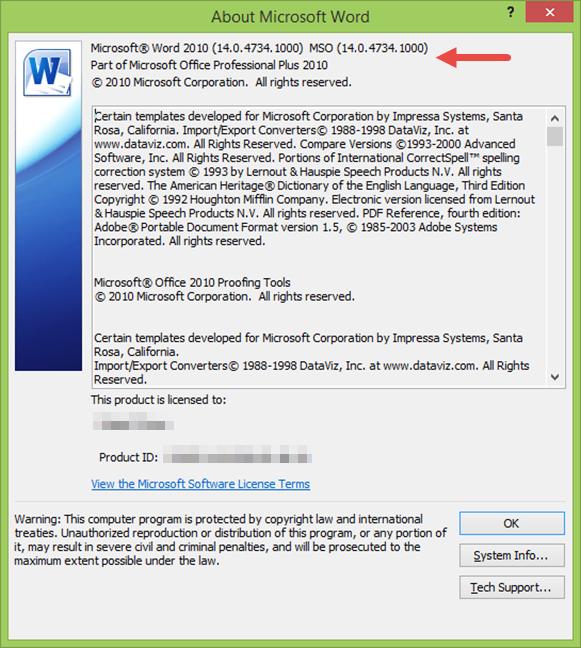 Despre Microsoft Word 2010