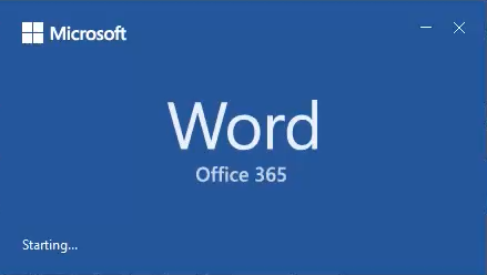 Pornește Word în Office 365
