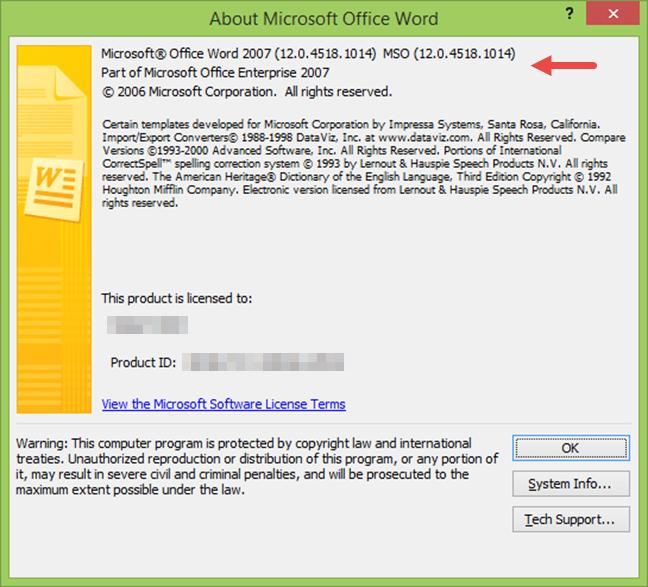 Despre Microsoft Word 2007