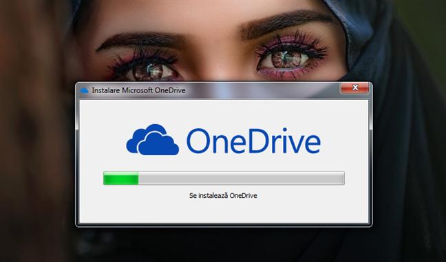 Instalarea programului OneDrive pentru Windows 7