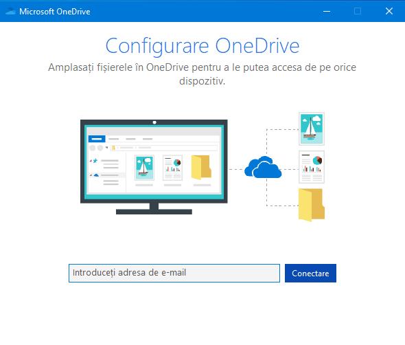 Reconfigurează OneDrive de la început