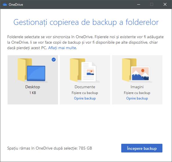 OneDrive poate să protejeze folderele importante de pe PC-urile tale