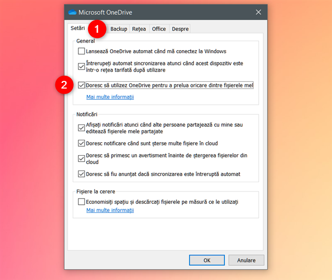 Doresc să utilizez OneDrive pentru a prelua oricare dintre fișierele mele de pe acest PC