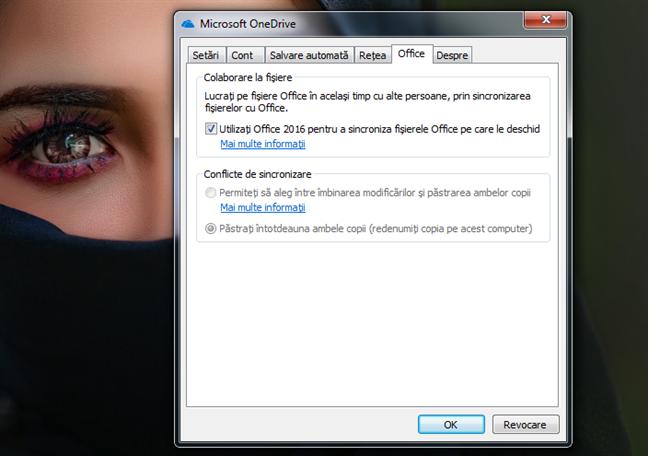 Setări de colaborare pentru Office în OneDrive pentru Windows 7