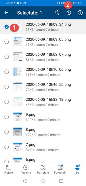 Restaurează fișierele șterse din OneDrive pentru Android