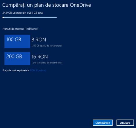 Windows 8.1, OneDrive, setari
