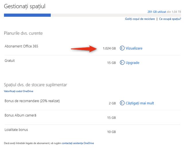 Abonamentul Microsoft 365 include 1 TB de spațiu de stocare în OneDrive