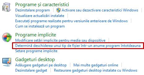 programe implicite, default, asociere, tip fisier