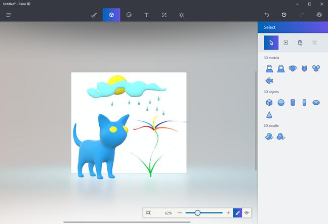 Windows 10, Paint 3D