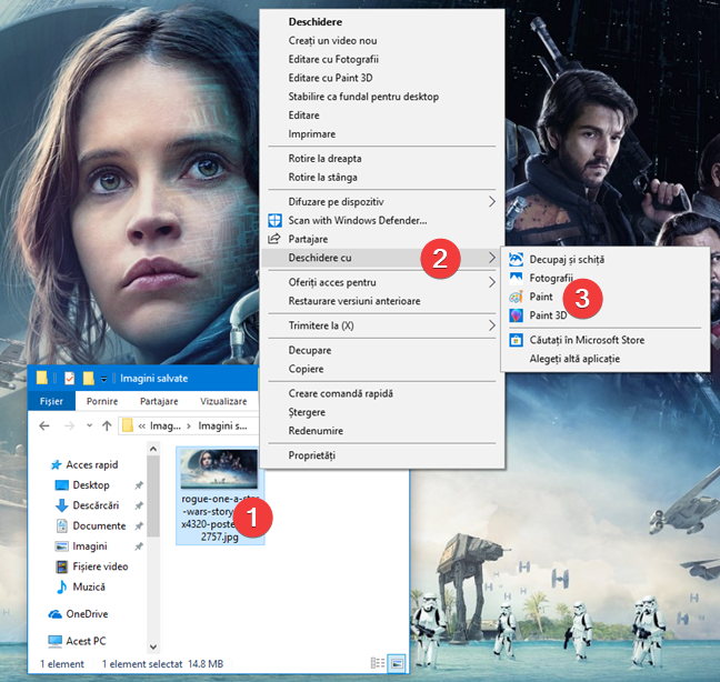 Deschide Paint din Explorer în Windows 10