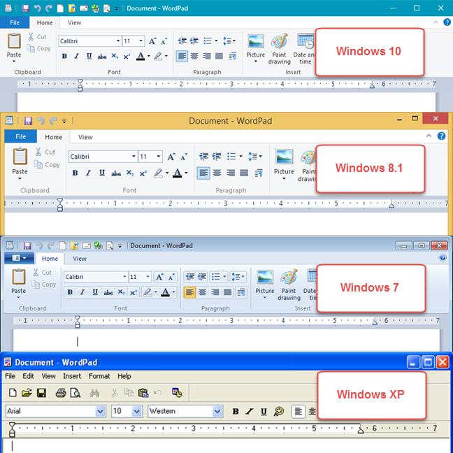 Ribbon, Panglica, interfata, Windows