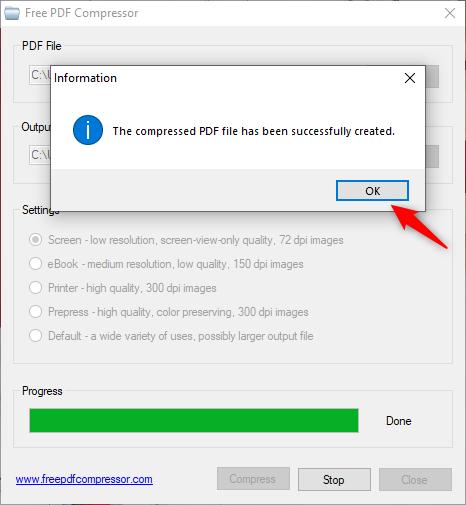 Fișierul PDF este mai mic