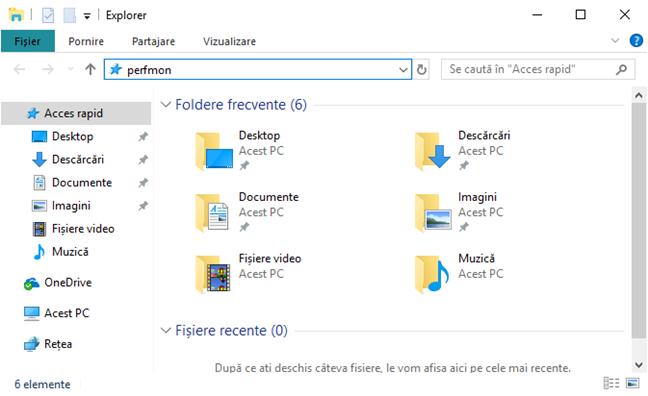Deschide Performance Monitor în File Explorer