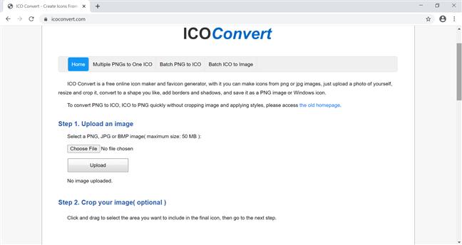 Folosește ICO Convert pentru a-ți crea pictogramele