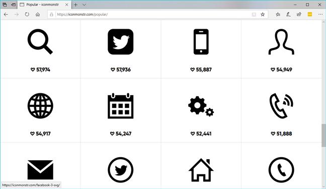 Site-ul web iconmonstr.com
