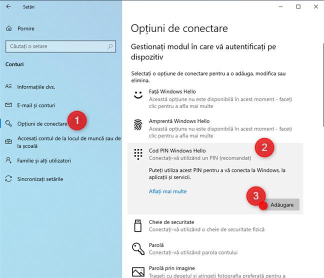 Cum adaugi un cod PIN pentru conectarea la Windows 10