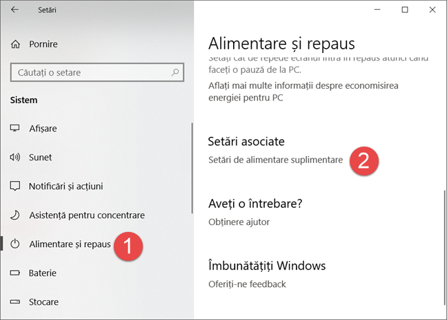 Windows, planuri alimentare