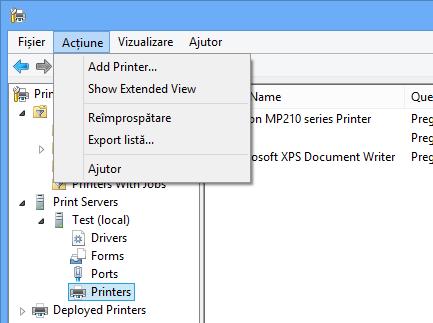 Metoda profesionistă de administrare a Imprimantelor – Consola Print Management