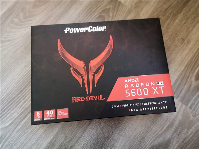 PowerColor Radeon RX 5600 XT Red Devil: Cutia